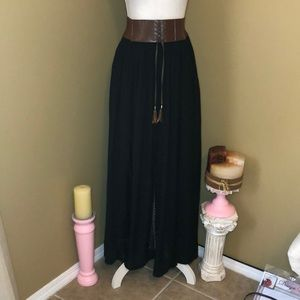 Double Zero black bohemian skirt